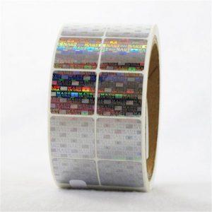 CCHLPET020 adaptita holograma glumarka folia etikedo
