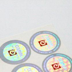 CCHLPET020 customized hologram sticker sheet label