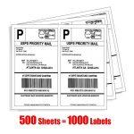Adhesive shipping label