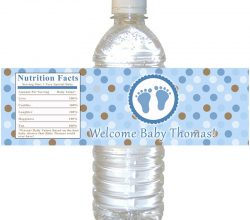 CCPES085 customized plastic water bottle label