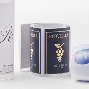 CCWLC100-elektrolumina vino-botela etikedo