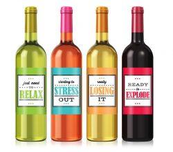 CCWLE095 wine bottle neck label