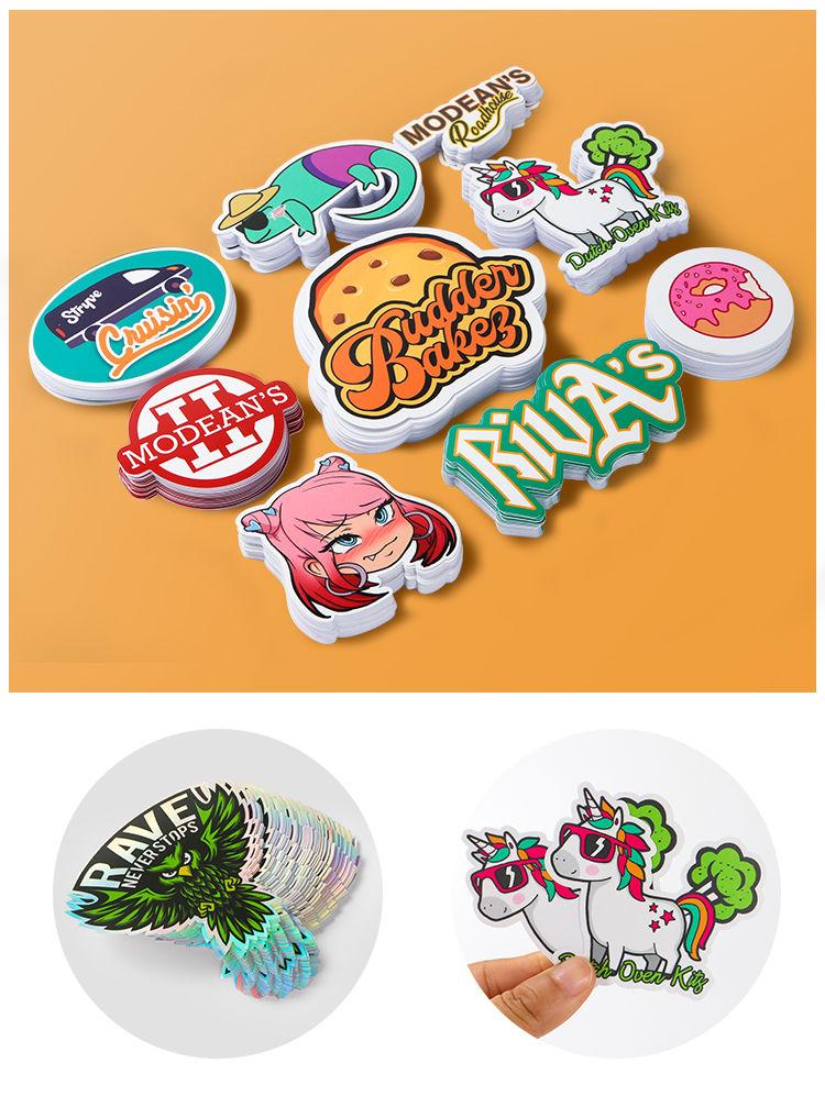 Custom clear logo stickers