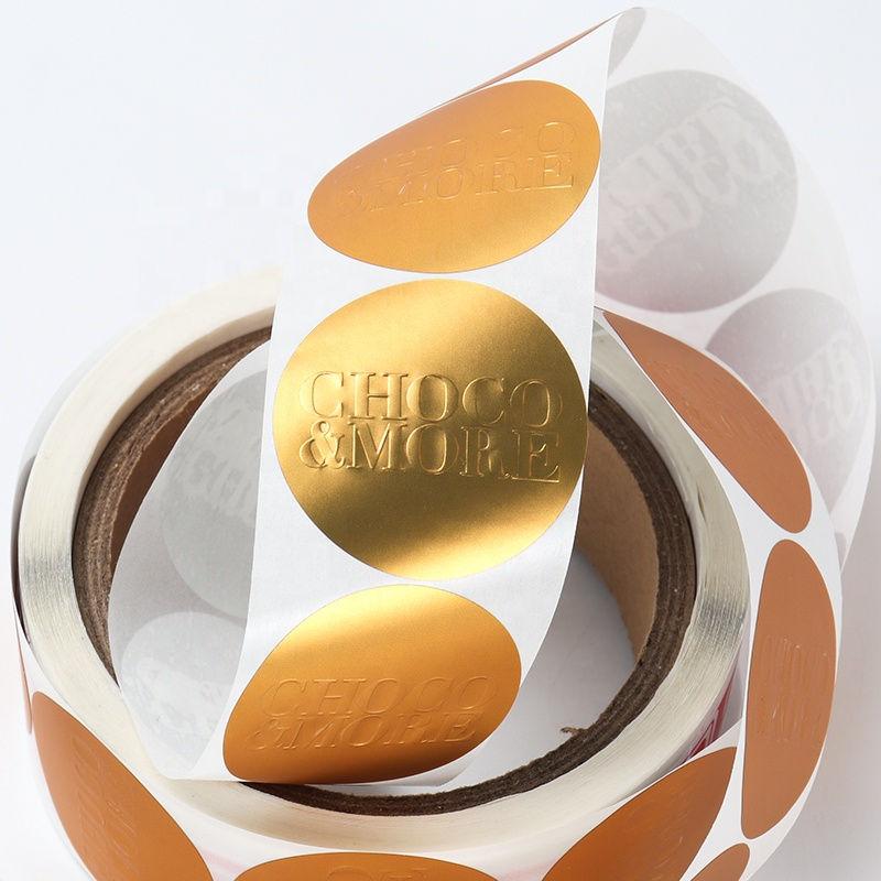 Custom gold foil self adhesive vinyl film label