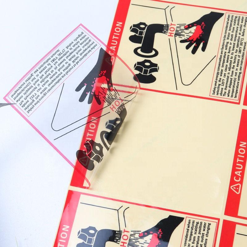 Custom print warning seal sticker transparent label sticker