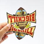 Custom printing candy box sticker, peanut butter label, gold foil embossed honey label