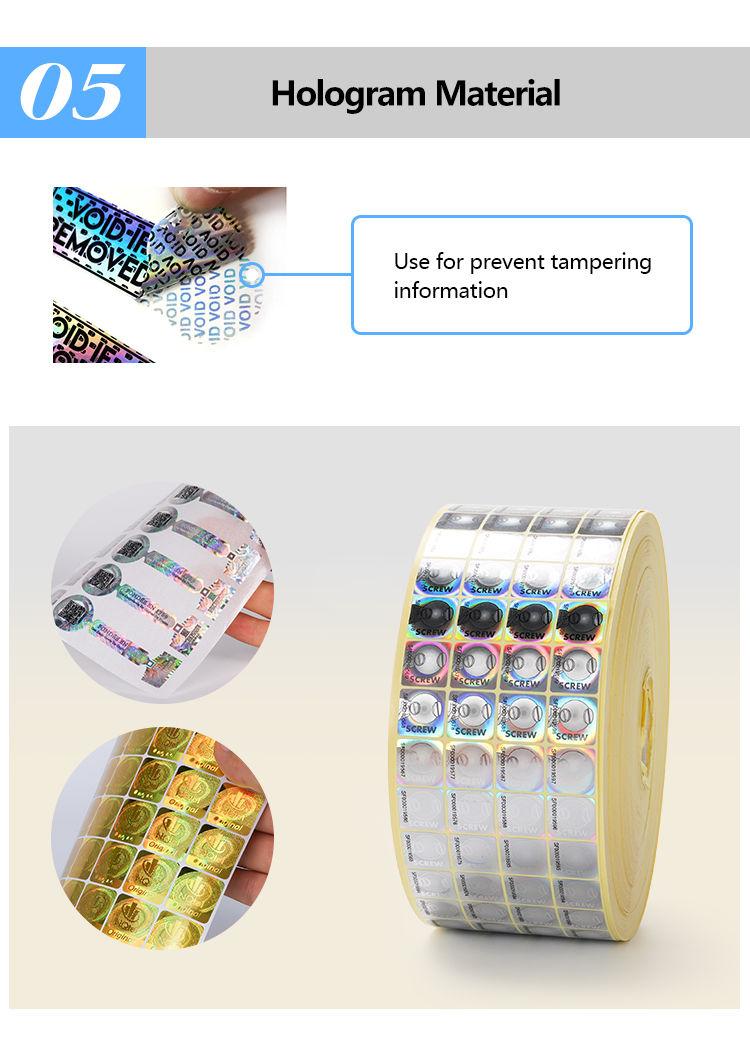 Custom printing candy box sticker