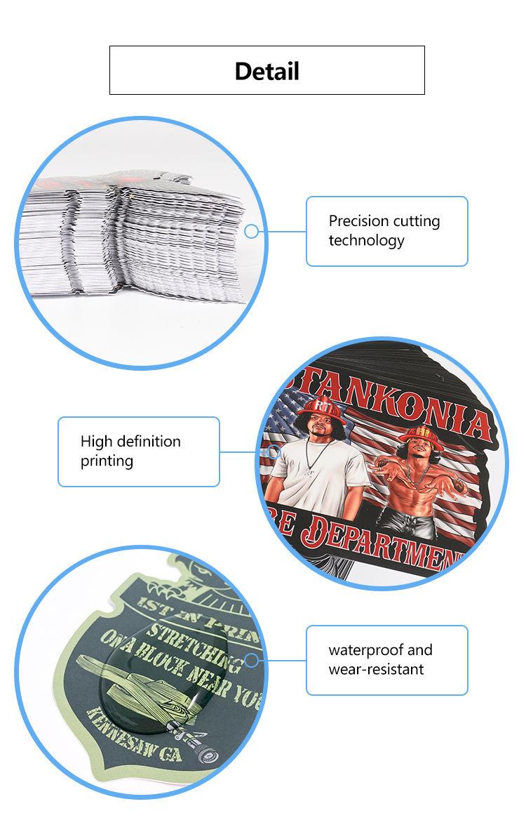 Custom printing hat label sticker bucket labels umbrella stickers logo stickers