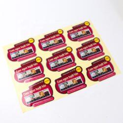 Pasadya nga pag-print mga sticker sa pilak nga sheet