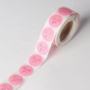 Tilpasset utskrift takk klistremerke segl etikett oem for småbedrifter klistremerke