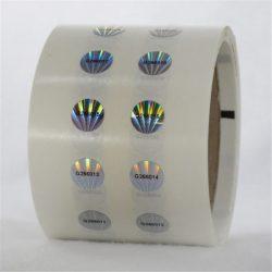Sekureco VOID-hologramaj etikedoj