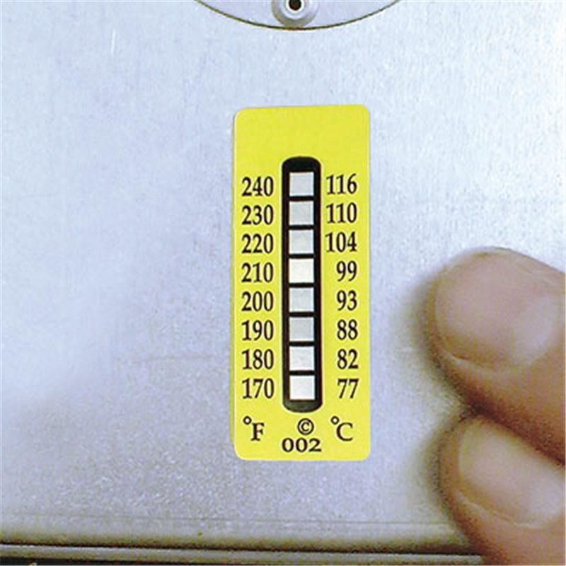Nalepke za termične indikatorje