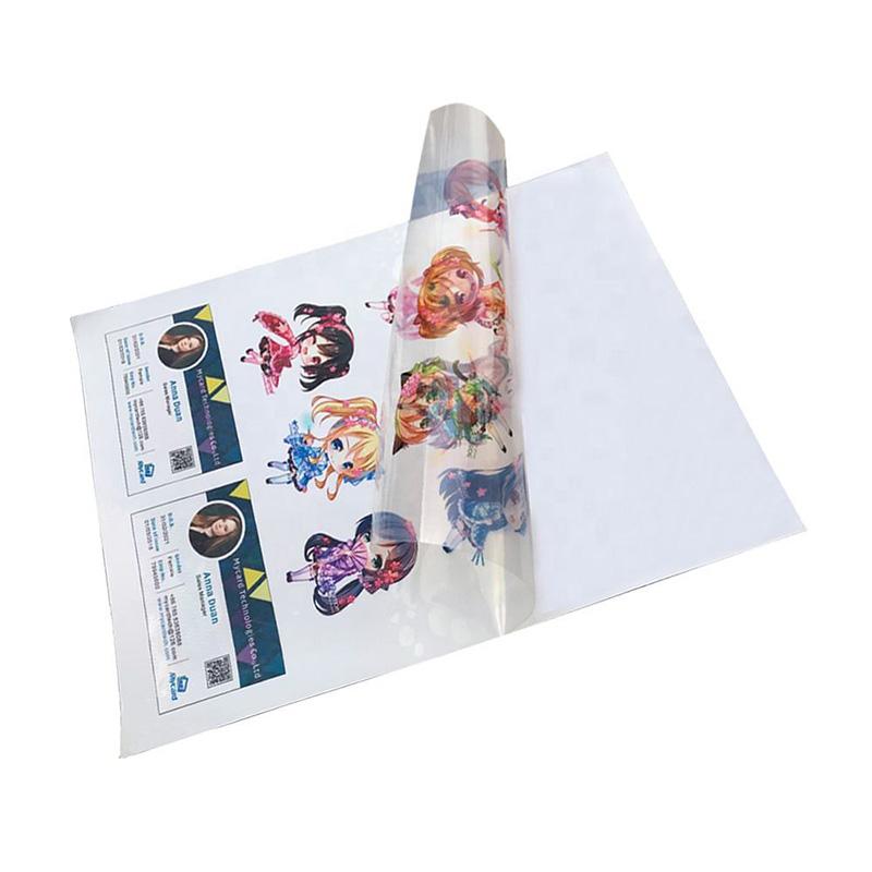 Transparent sticker for inkjet