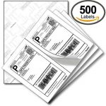 8.5″ x 11″ US standard express shipping labels