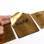 Wet strength paper beer label