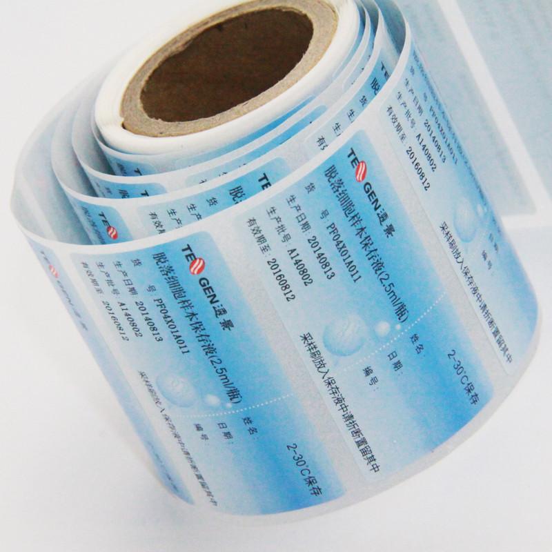 etikett av papirmateriale