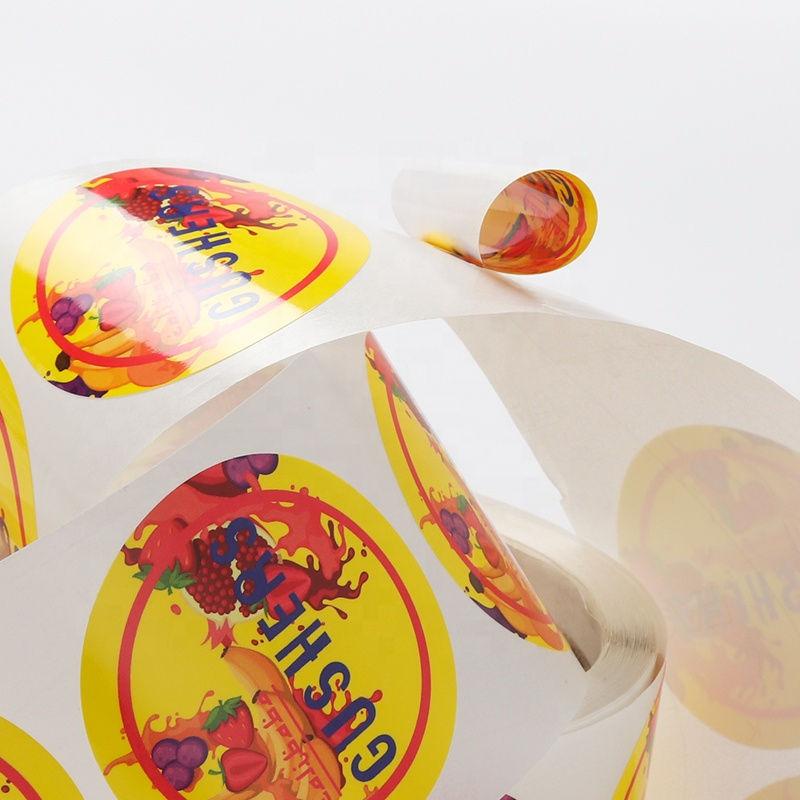 vinyl waterproof logo gradient color bottle sticker